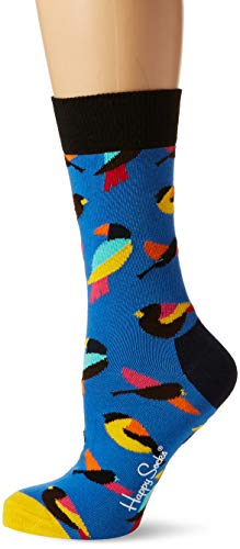 Happy Socks Damen Freizeitsocken Bird, 6er Pack, Blau -