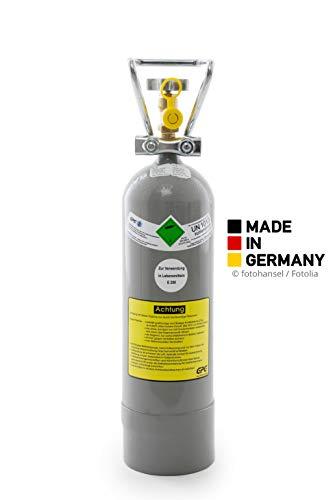 2 kg Kohlensäure Flasche für Aquarium/ 2 kg CO2 Flasche/Gasflasche gefüllt mit Kohlensäure(CO2) / Lebensmittelqualität nach E290/ NEUE Eigentumsflasche/10 Jahre TÜV ab Herstelldatum/Made in Germany