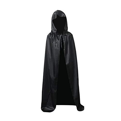 BUZIFU Halloween Cape à Capuche,Costume de Déguisement Adult,Cape Morte d'halloween à Capuche,Costume Halloween Cosplay Vampire/La Mort/Sorcières de Costumer de scène(Noir,S -110cm)