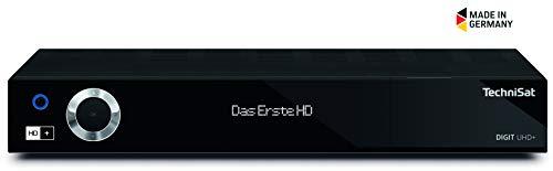 TechniSat DIGIT UHD+ 4K Sat Receiver (auch für Kabelfernsehen & DVB-T2 geeignet) mit Aufnahmefunktion, Twin-Tuner, App-Steuerung & Streaming-Funktion, schwarz