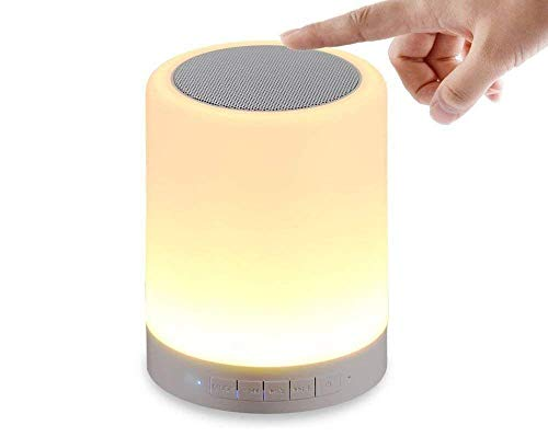 SP GOLD LED Touch Lamp Wireless HiFi Light, USB Rechargeable Portable Bluetooth Speaker with TWS for Festival Camping, Different Lighting Modes