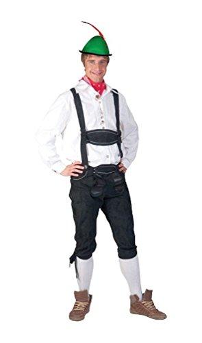 Oktoberfest Tiroler Hemd weiß mit Stickerei Verzierung Herrenkostüm Männerhemd Trachten Herren Größe 56/58 für Karneval Fasching Party Pierro´s Kostüm