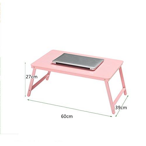 GYYZDZ ZZ Klapptisch Einfache klapptisch Laptop Schreibtisch Bett mit kleinen Tisch Schlafsaal faul Schreibtisch Lernen Tisch (6 Farben optional) (60 * 39 * 27 cm) (Farbe : C)