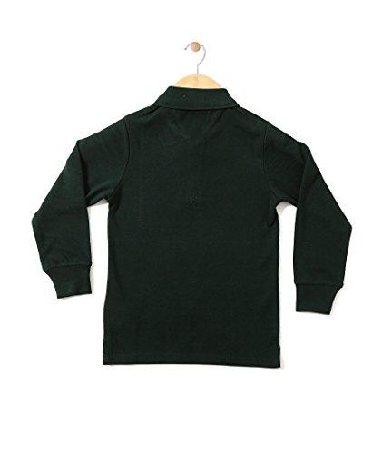 CHIMPRALA Cotton Boys Polo Neck T- Shirt Bottle Green Size, 24