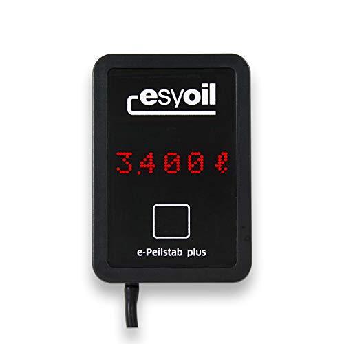 NEU esyoil e-Peilstab plus: elektronische Heizöl Füllstandsanzeige, misst besonders präzise, Anzeige in Liter, Zentimeter und Prozent, einfache Montage, digitale Tankanzeige zur Füllstandsmessung (Heizöl)