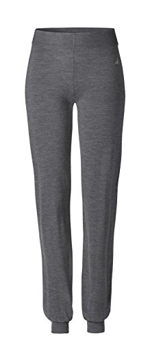 CURARE Damen Long Cosy Pants, anthrazit-Melange, M