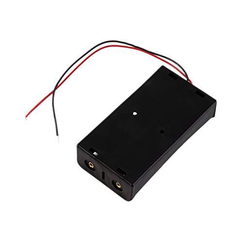 2X 18650 Batería Caja De Almacenamiento Caso 2 Ranura Manera Bricolaje Baterías Clip Titular Contenedor con Cable De Plomo Pin Negro