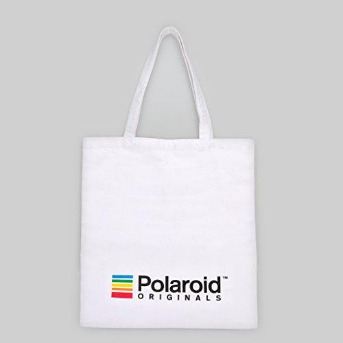 Polaroid Originals - 4788 - Einkaufstasche - Weiß mit Logo