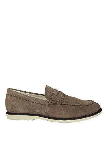 Hogan Men Mocassini in Suede Marrone Chiaro Loafers & Slippers