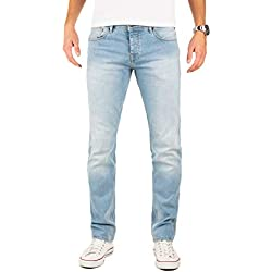 Yazubi Jeans Edvin - Pantalones Slim Fit - Vaqueros para Hombre Pitillo Cielo Agua Cyan, Azul (Flint Stone 183916), W30/L30