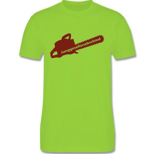 JGA Junggesellenabschied - Kettensäge - Herren Premium T-Shirt Hellgrün