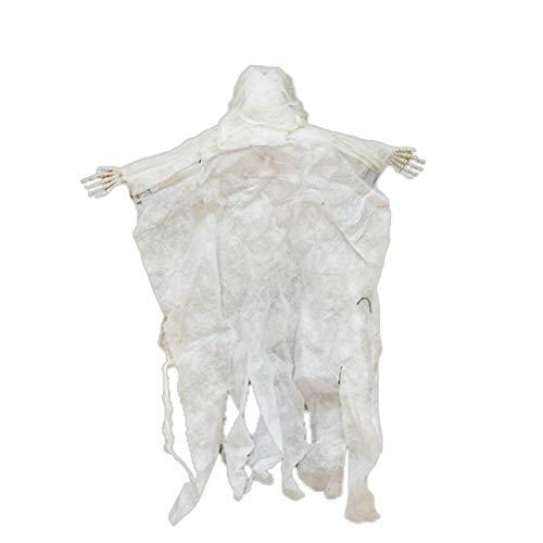 korationen Ghost beängstigend hängenden Schädel Skelett Ghost mit Kette hängenden Ornament Spukhaus Requisiten (weiß) ()