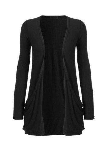 Hot Hanger Womens Long Sleeve Pocket Cardigan Top