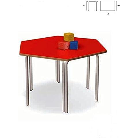 Escritorio de la escuela infantil hexagonal. Tamaño: W 50 D 50 52 altura.