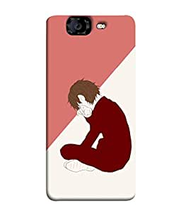 99Sublimation Designer Back Case Cover For MICROMAX CANVAS KNIGHT A 350 Sadness Design