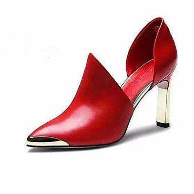 LvYuan-ggx Da donna Tacchi PU (Poliuretano) Primavera Autunno Nero Rosso Piatto Black