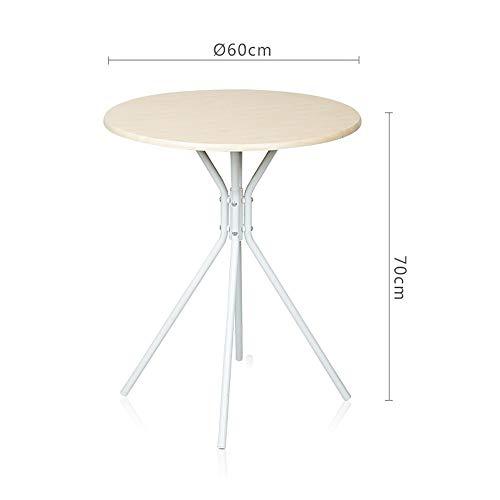 QJJML Runde Klapp Esstisch, Einfache Tragbare LäSsig Kreative Picknick Runde Studie Tisch, Bambus Holz Farbe