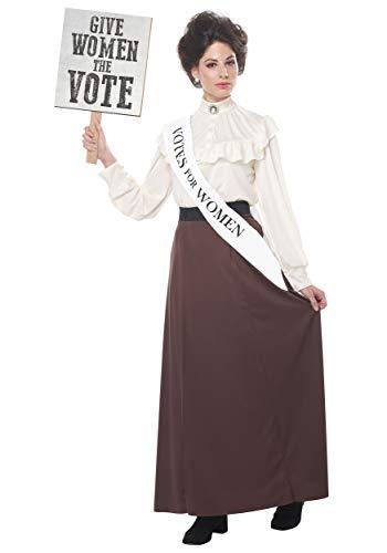 Kostüm Suffragetten - Women's English Suffragette Fancy Dress Costume X-Large