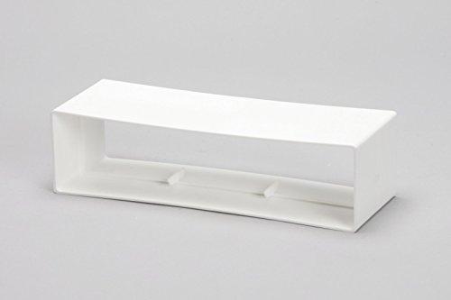 /pl/ástico blanco naplesuk 220/mm x 90/mm MegaDuct plano canal conducto 1,5/Metre longitud/