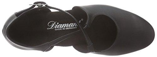 Diamant Diamant Damen Tanzschuhe 052-102-034, Chaussures de Danse de salon femme Noir - Noir