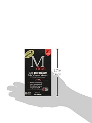 Mdrive Elite Energizing Testosterone Booster with Cordyceps, Fenugreek and KSM-66, 90 Count from Mdrive