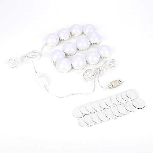 Ampoules à LED ampoule miroir miroir miroir lumière vanité miroir kit de lampe à LED lentille phare kit ampoules à LED (12 ampoules)