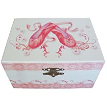 Pretty Ballerina Musical Jewellery Box With Ballet Shoes