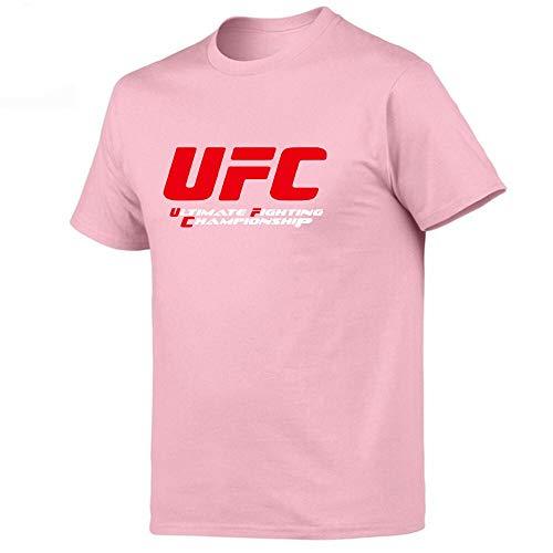 YKDDJJ T-Shirts Herren/Damen Print Kurzarm-Shirts Baumwolle Tops T-Shirts Leicht und atmungsaktiv L (176cm-179cm) Pink H
