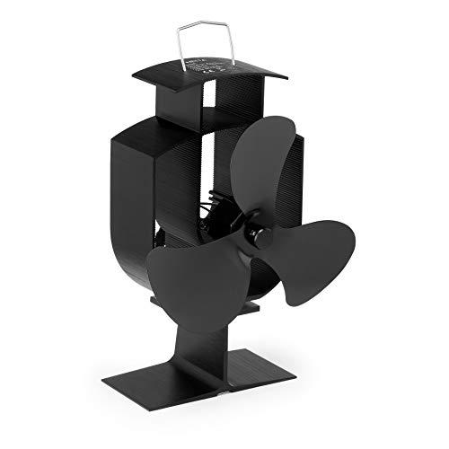 NETTA Stromloser Ventilator für Kamin Holzöfen Öfen - Geräuscharmer Betrieb 3 Rotorblätter Kamin - Ventilator Ofenventilator Feuerstelle Kaminöfen