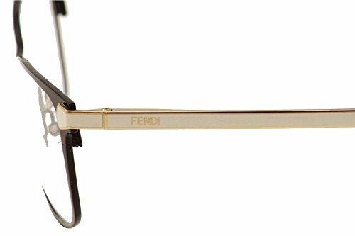Fendi Montures de lunettes 0036 Pour Femme Dark Ruthenium / Palladium / Yellow BK GD WHT
