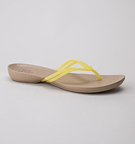 Crocs Isabella, Tongs Femme Jaune
