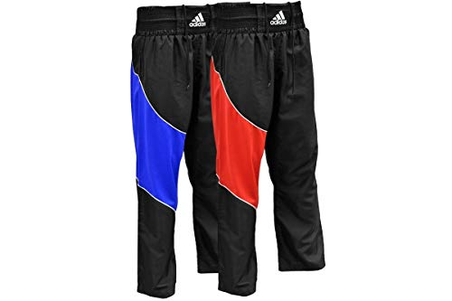 Adidas Pantalón Kick Boxing Kickboxing Pants, Negro/Rojo, 190, adiTU010T