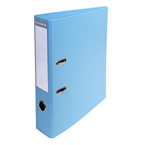 Exacompta 53702E Premium Kunststoff-Ordner (PVC, 2 Ringe, Rücken 70 mm, DIN A4) 1 Stück hellblau