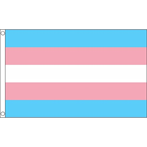UKFlagShop 5ft x 3ft (150 x 90 cm) New Transgender Gay Pride 100% Polyester Material Flag Banner Ideal For Pub Club Festival Busine -