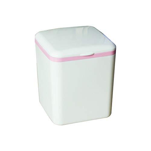 r für Schreibtisch Bio Mülleimer Abfalleimer Auto Mülleimer mit Deckel für Büro Hause 13.5 * 13.5 * 16cm ()