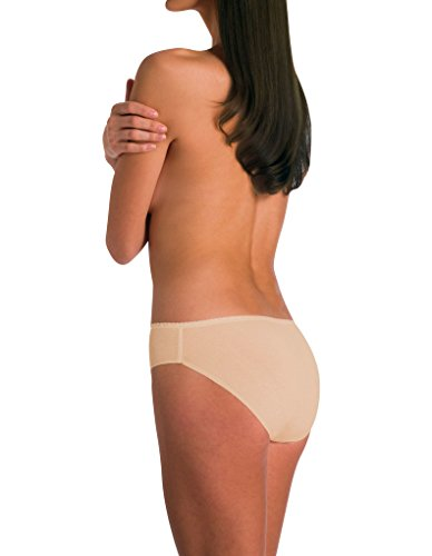 Naomi and Nicole Women's Edgies Nude Laser Cut Hipster A143 Nude (Beige)