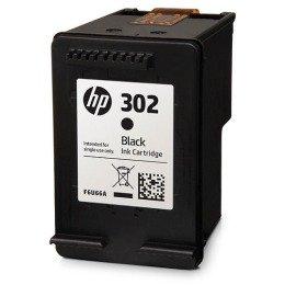 Original Tinte passend für HP OfficeJet 3832 HP 302BK, 302BLACK, F6U66A, NO302, NO302BK, NO302BLACK F6U66AE - 1x Premium Drucker-Patrone - Schwarz - 190 Seiten - 3,5 ml
