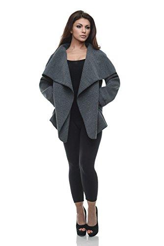 Damen Blogger Wasserfall Kragen Mantel Übergangs Jacke gebraucht kaufen  Wird an jeden Ort in Deutschland