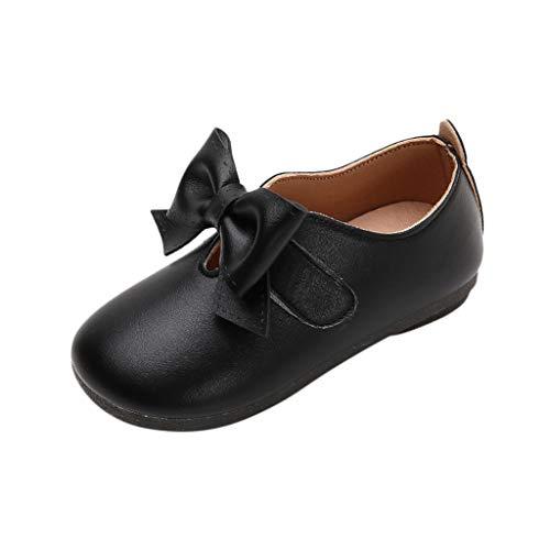 JiaMeng Kinder Kid Baby Mädchen Feste Bowknot Student Einzelne Weiche Tanzprinzessin Schuhe