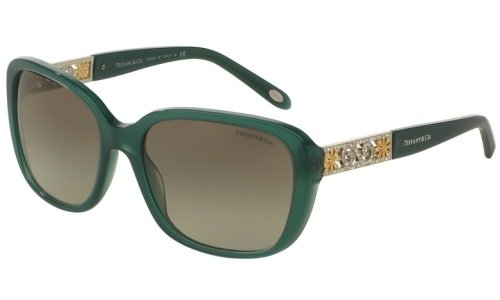 Tiffany & Co. Damen 0TY4120B 81953M 57 Sonnenbrille, Grün (Opal Green/Greengradient)