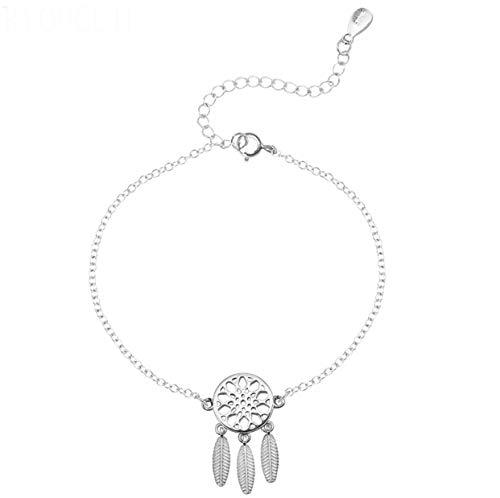 Izzie Jewellery - Pulsera ajustable de plata de ley 925 con diseño de atrapasueños