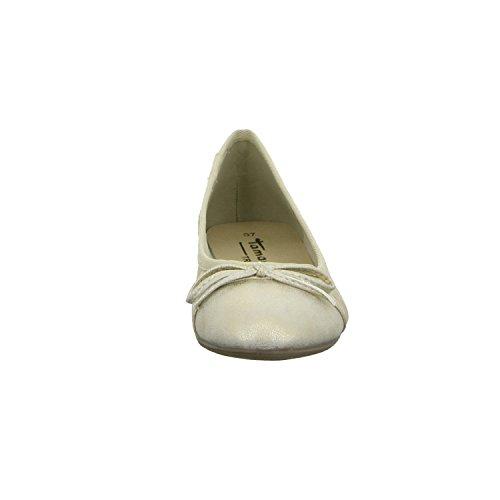 Tamaris 1-22108-26/944 Damen Ballerina flacher Boden ohne ausgeprägten Absatz Gold