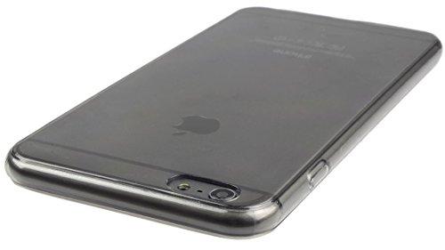 Ultradünne Slim Silikonhülle für IPHONE 6 // 0,2 mm Hülle Zubehör Schutz Silikon Schale DÜNN in Pink @Energmix® Dunkel-Transparent