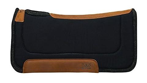 Weaver Leather Canvas Working Contoured Saddle Pad with Wool Felt Bottom, 32