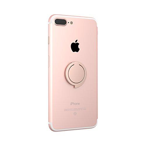 Kronya® | 360° drehbarer Smartphone Fingerhalter | Case Finger Griff Halter Halterung Handy Hülle Ring Ringhalter Ständer Tablet | Kompatibel mit Apple iPhone iPad Samsung Galaxy | 3 (Roségold)