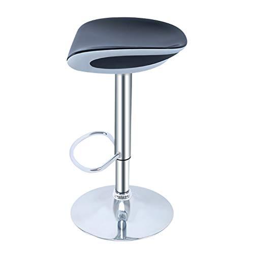 Gxdhome sgabelli da bar altezza regolabile perno casa cucina sedia nero indietro schienale bracciolo poggiapiedi prima colazione contatore cenare materiale abs sgabelli alti (colore : nero)
