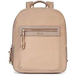 Tous 695810088, Bolso mochila para Mujer, Beige (Topo) 26x33x9.5 cm (W x H x L)