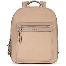 Tous 695810088, Bolso mochila para Mujer, Beige (Topo) 26x33x9.5 cm