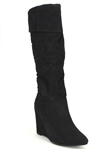 Cendriyon, Botte compensé SHANG Noire Chaussures Femme Noir