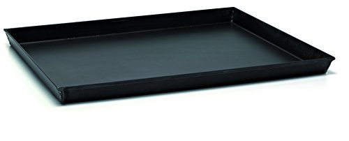Ballarini Professionale 3044 Teglia Rettangolare con Angoli Svasati, Ferro Blu, Nero, 40 cm